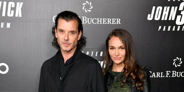 """Gavin Rossdale and rumored girlfriend Natalie Golba attend the New York City premiere for """"John Wick 3,"""" officially making their debut as a couple."""
