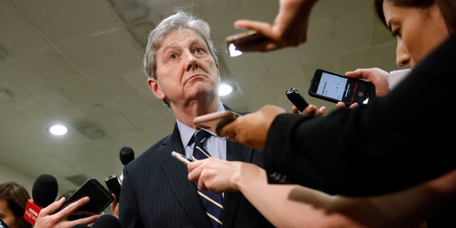 "Sen. John Kennedy, R-La.,. said during a Senate speech Wednesday, ""The House leadership needs to urinate or get off the pot,"" in regards to impeachment. (AP Photo/Patrick Semansky)"