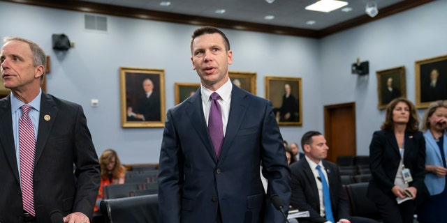 Acting-Homeland Security Secretary Kevin McAleenan prepares for a House Appropriations subcommittee hearing on his agency's future funding, on Capitol Hill in Washington, April 30, 2019. (Associated Press)