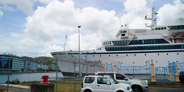 Health officials said they will board the ship (pictured) when it arrives early Saturday and assess who has been vaccinated or had the disease previously.