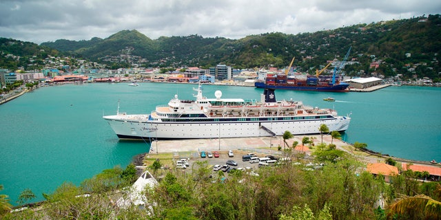 Authorities in the eastern Caribbean island have quarantined the ship after discovering a confirmed case of measles aboard.