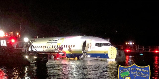 The plane reportedly skidded off the runway into the water around 9:40 a.m. Jacksonville Fire and Rescue tweeted that approximately 90 personnel responded to the scene.