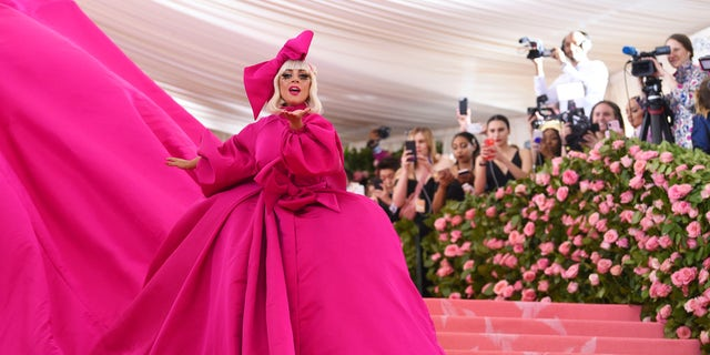 Lady Gaga in her first look at the 2019 Met Gala.