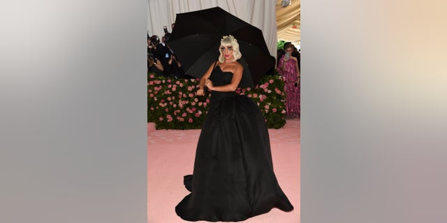 Lady Gaga shows off her second look of the evening.