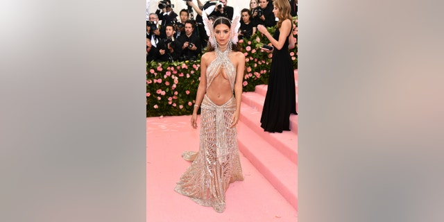 "Emily Ratajkowski attends The Metropolitan Museum of Art's Costume Institute benefit gala celebrating the opening of the ""Camp: Notes on Fashion"" exhibition on Monday, May 6, 2019, in New York."