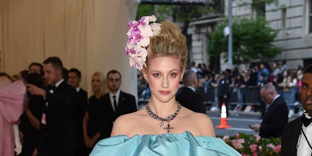 """Lili Reinhart attends The Metropolitan Museum of Art's Costume Institute benefit gala celebrating the opening of the """"Camp: Notes on Fashion"""" exhibition on Monday, May 6, 2019, in New York."""