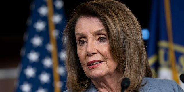 House Speaker Nancy Pelosi, D-Calif., meets with reporters Thursday, the day after the Democrat-controlled House Judiciary Committee voted to hold Attorney General William Barr in contempt of Congress. (Associated Press)