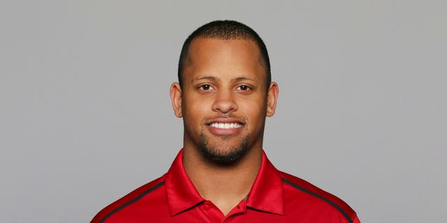 Keanon Lowe of the San Francisco 49ers NFL football team. Lowe, a former analyst for the 49ers and wide receiver at the University of Oregon, subdued a person with a gun who appeared on a Portland, Oregon high school campus Friday. Lowe is now a coach at Parkrose High School. (AP Photo/File)