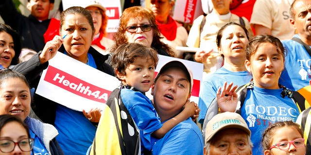 """FILE: An Immigrants Day of Action rally in Sacramento, Calif.<br data-cke-eol=""""1"""">"""