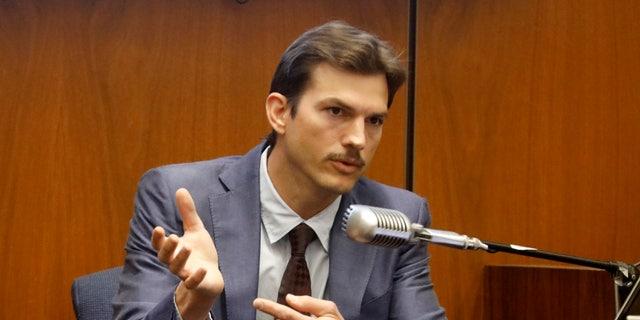 Ashton Kutcher testifies in the murder trial of Michael Gargiulo in Los Angeles Superior Court on Wednesday.