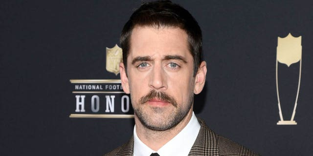 NFL player Aaron Rodgers attends the 8th Annual NFL Honors at The Fox Theatre .