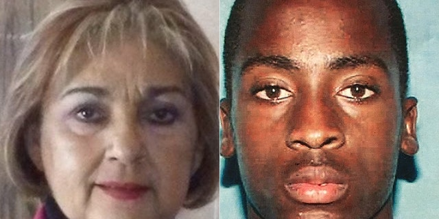 Amad Rashad Redding, on the right, has been charged with the murder of Rosa Elena Hernandez, on the left.