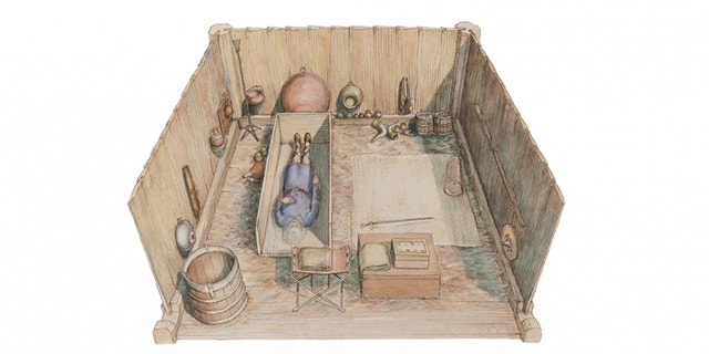 An artist's impression of the burial site.