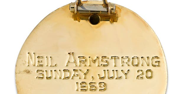 The brooch commemorates the famous Apollo 11 mission. (M.S. Rau Antiques)