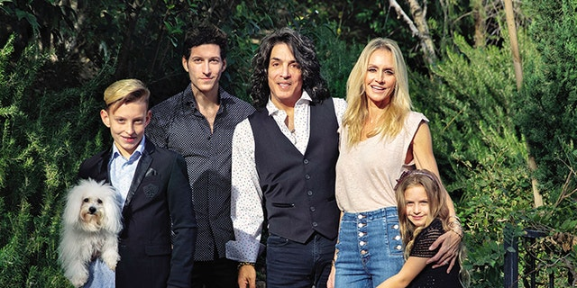 Paul Stanley with his family.