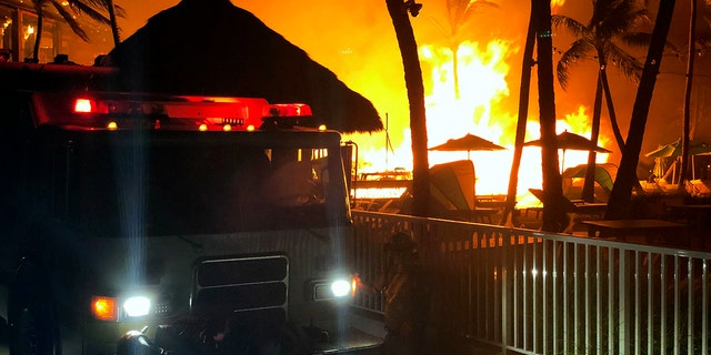 The fire was isolated to the Beach House and no bungalows were affected by the blaze.