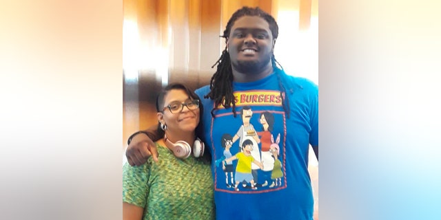 Football player Braeden Bradforth and his mother Joanne Atkins-Ingram in an undated photo. Garden City Community College has agreed to an independent investigation into the heatstroke death of Bradforth last year. (Courtesy Joanne Atkins-Ingram via AP)