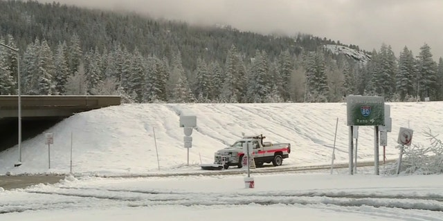 Heavy snow was reported in Kingsville, California on Thursday when a storm system moved into the region.