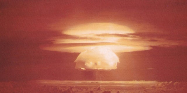 The mushroom cloud from Castle Bravo, the most powerful nuclear device ever detonated by the United States.