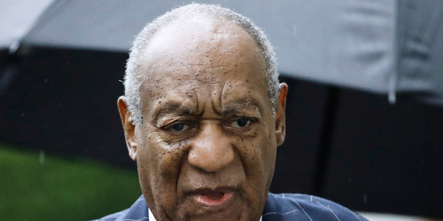 FILE - In this Sept. 25, 2018, file photo, Bill Cosby arrives for a sentencing hearing following his sexual assault conviction at the Montgomery County Courthouse in Norristown Pa.