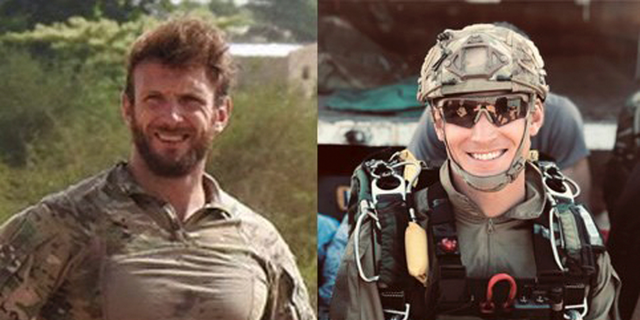 This photo provided Friday May 10, 2019 by the French army shows navy soldiers Cédric de Pierrepont, left, and Alain Bertoncello. Two French soldiers have been killed in a military operation in the West African nation of Burkina Faso that freed four people from the U.S., France and South Korea who were kidnapped in neighboring Benin.