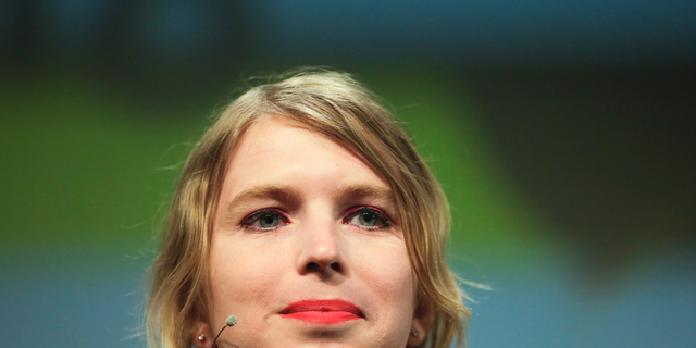 "FILE - In this May 2, 2018, file photo, Chelsea Manning attends a discussion at the media convention ""Republica"" in Berlin. (AP Photo/Markus Schreiber, File)"