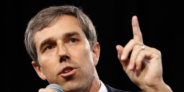 Democratic presidential candidate and former U.S. Rep. Beto O'Rourke of Texas speaks in Las Vegas on April 27. (Associated Press)
