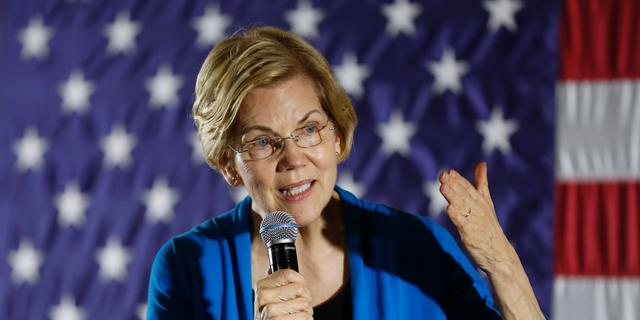 2020 Democratic presidential candidate Sen. Elizabeth Warren. (Associated Press)