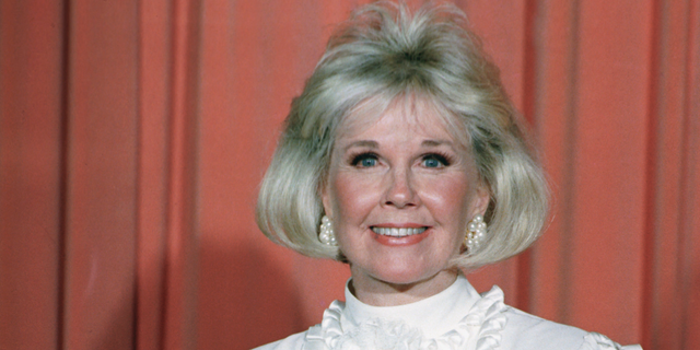 Doris Day after receiving the Cecil B. DeMille Award at the annual Golden Globe Awards on Jan. 28, 1989. (AP Photo, File)