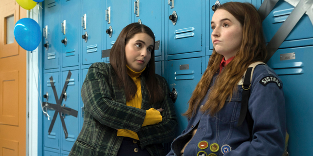 Beanie Feldstein (L) and Kaitlyn Dever (R) in a scene from the film 'Booksmart,' directed by Olivia Wilde.