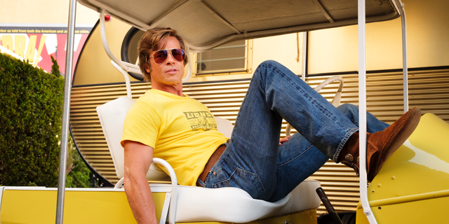 "This image released by Sony Pictures shows Brad Pitt in Quentin Tarantino's ""Once Upon a Time in Hollywood."" The film was announced as a late addition to the Cannes Film Festival on Thursday, May 2. It will premiere in competition at the upcoming French festival, adding one of the summer's starriest, most anticipated films to Cannes' red carpet."
