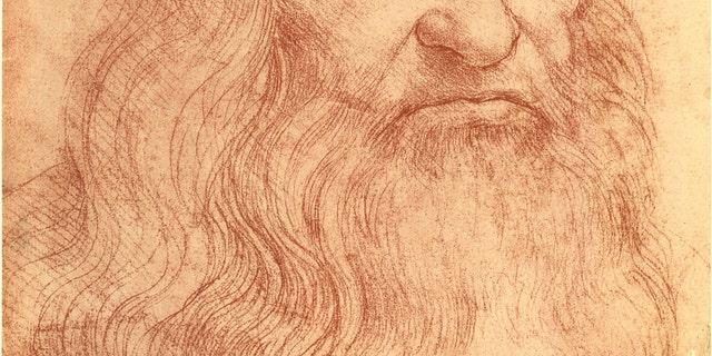 Sketch of Italian polymath Leonardo da Vinci (1452 - 1519). (Photo by Mansell/The LIFE Picture Collection)