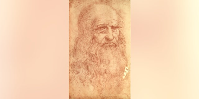 Sketch of Italian polymath Leonardo da Vinci (1452 - 1519). (Photo by Mansell/The LIFE Picture Collection)