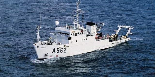 The research vessel RV Belgica. (© Belgian Navy)