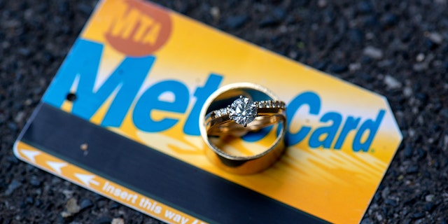 """""""The MTA is like a marriage, they both need work, but they can both take you to beautiful places,"""" the groom explained."""