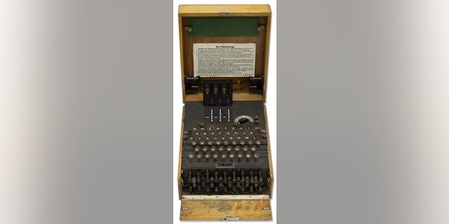 Bidding for the Enigma machine starts at $200,000.
