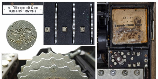 The Enigma machine being auctioned was designed by the German Navy. (Nate D. Sanders Auctions)