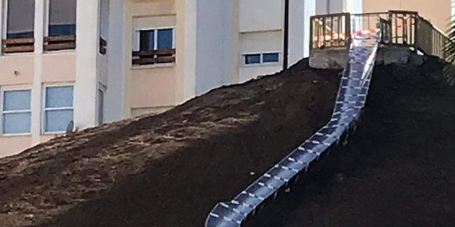 The 125-foot slide in Estepona, Spain has been closed for review a day after opening after people reported being injured.