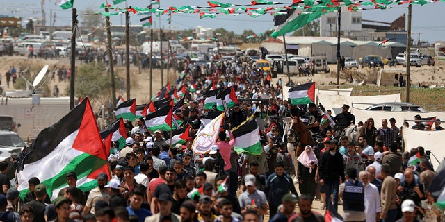 Westlake Legal Group Gaza-AP-1 Nearly 50 Palestinians injured in protests along Gaza-Israeli border: officials Nicole Darrah fox-news/world/world-regions/middle-east fox-news/world/world-regions/israel fox-news/world/conflicts fox news fnc/world fnc d86d6c97-963e-57ca-9aa3-7f88f712374b article