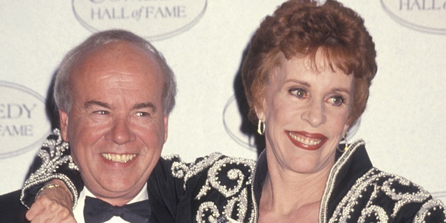 "Tim Conway and Carol Burnett during Taping of NBC Special ""Comedy Hall of Fame"" at Beverly Hilton Hotel in Beverly Hills, CA, United States. (Photo by Ron Galella, Ltd./WireImage)"