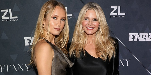 Sailor Brinkley-Cook and Christie Brinkley attend the 2018 Footwear News Achievement Awards at IAC Headquarters on Dec. 4, 2018 in New York City.