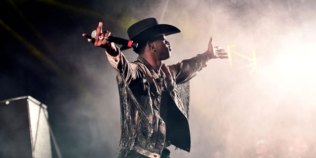 Singer Lil Nas X performs onstage during Day 3 of the Stagecoach Music Festival on April 28, 2019 in Indio, California.