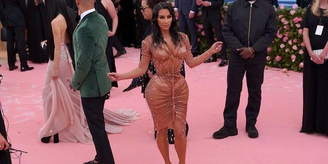 Kim Kardashian West attends the Metropolitan Museum of Art's 2019 Costume Institute Benefit