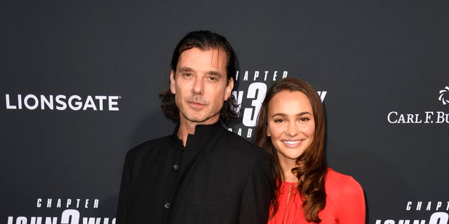 Gavin Rossdale and Natalie Golba keep tighten on a red runner for a special screening of Lionsgate's John Wick: Chapter 3 - Parabellum on May 15, 2019 in Hollywood, Calif.