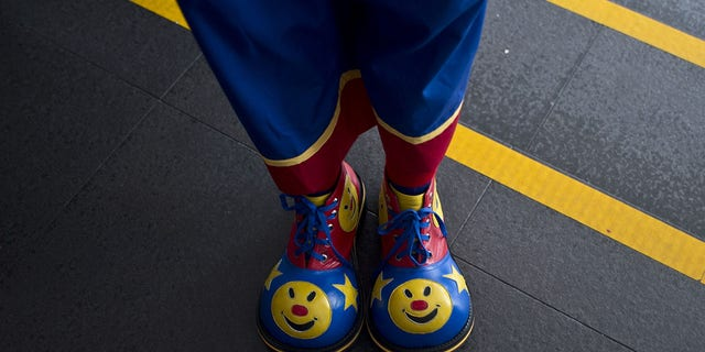 The man dresses up as a clown every year for his birthday, police said on Facebook. (Getty Images)