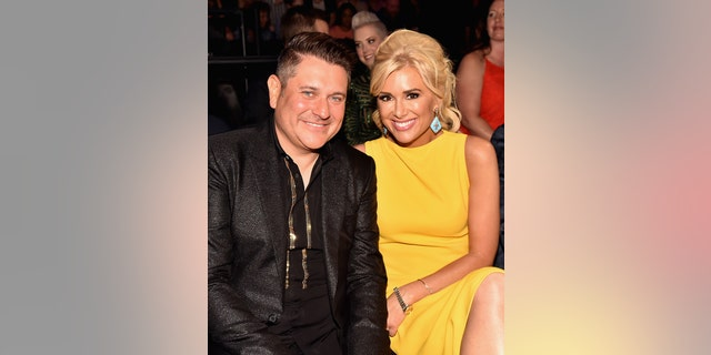 Jay DeMarcus and Allison Alderson attend the 2018 CMT Music Awards at Bridgestone Arena on June 6, 2018, in Nashville, Tenn. (Photo by Jeff Kravitz/FilmMagic/Getty Images)