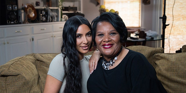 Kim Kardashian West and Alice Johnson on Wednesday, June 13, 2018.