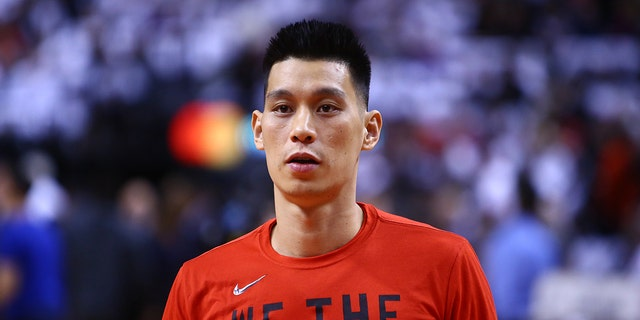 Jeremy Lin before a game in April. (Photo by Vaughn Ridley/Getty Images)