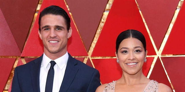 """Gina Rodriguez and Joe LoCicero reportedly met in 2016 when LoCicero guest starred on """"Jane the Virgin."""" (Photo by Kevork Djansezian/Getty Images)"""