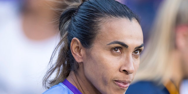 Forward Marta will represent Brazil at this year's FIFA Women's World Cup. (Photo by Andrew Bershaw/Icon Sportswire via Getty Images)